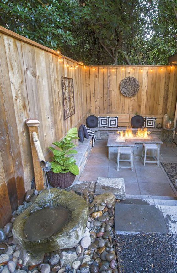 5 Practical Decor Tips & 39 Ideas For Small Backyard -  - garden - Small backyard ideas and tips simple patio with pool and narrow paths 32 -