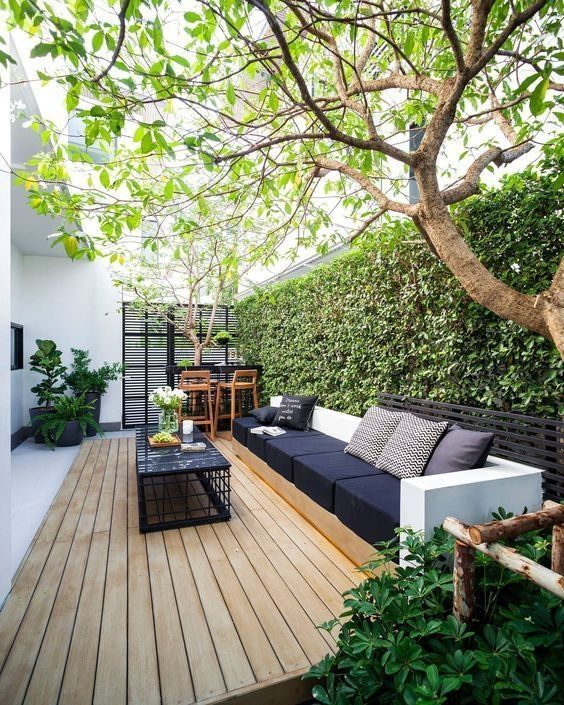 5 Practical Decor Tips & 39 Ideas For Small Backyard -  - garden - Small backyard ideas and tips simple patio with pool and narrow paths 34 -