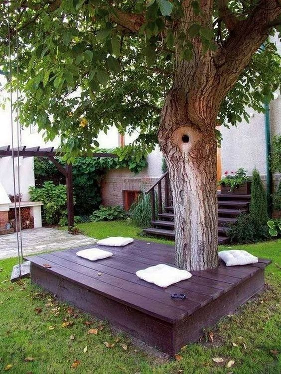 5 Practical Decor Tips & 39 Ideas For Small Backyard -  - garden - Small backyard ideas and tips simple patio with pool and narrow paths 39 -