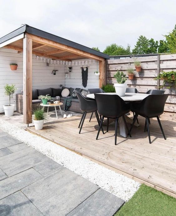 5 Practical Decor Tips & 39 Ideas For Small Backyard -  - garden - Small backyard ideas and tips simple patio with pool and narrow paths 6 -