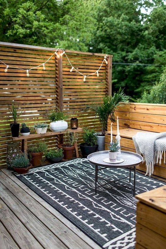 5 Practical Decor Tips & 39 Ideas For Small Backyard -  - garden - Small backyard ideas and tips simple patio with pool and narrow paths 7 -