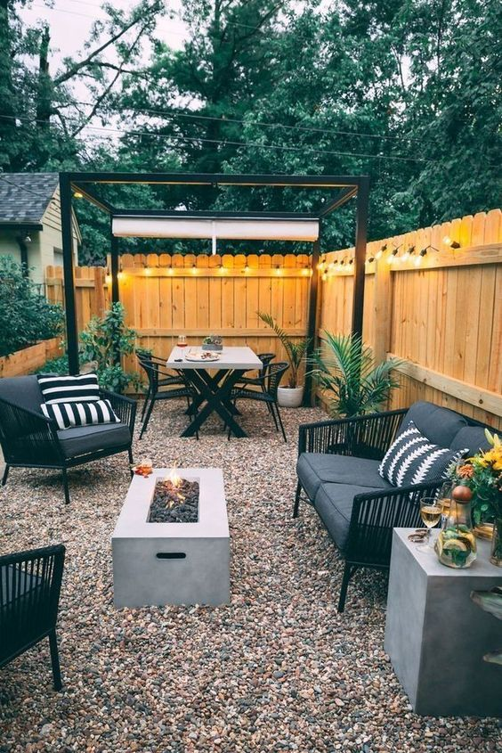Blog -  -  - Small backyard ideas and tips simple patio with pool and narrow paths 8 -