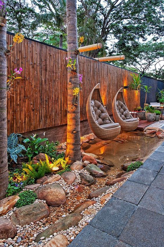 5 Practical Decor Tips & 39 Ideas For Small Backyard -  - garden - Small backyard ideas and tips simple patio with pool and narrow paths 9 -