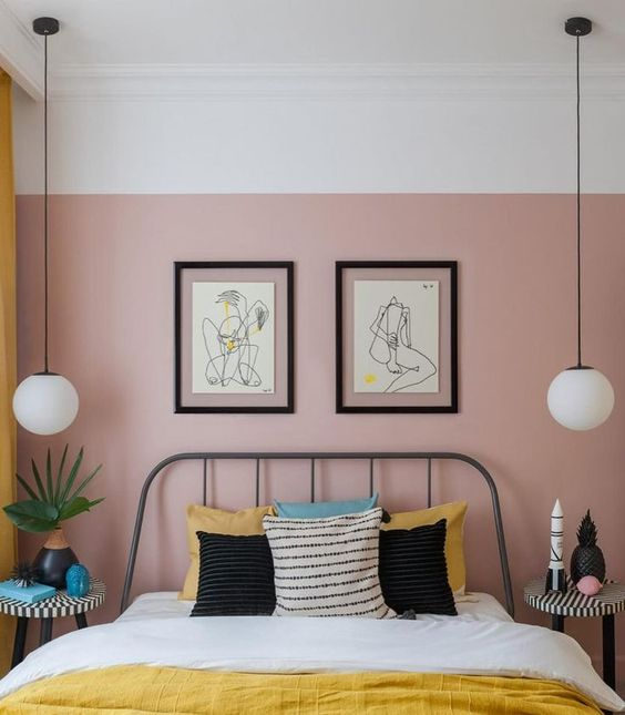 44 Unique & Rare Wall Color Ideas -  - home-decor - creative wall color ideas bedroom living room kitchen 7 -