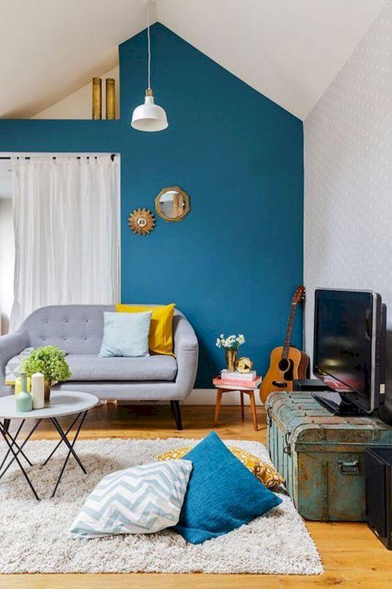 44 Unique & Rare Wall Color Ideas -  - home-decor - creative wall color ideas bedroom living room kitchen 9 -