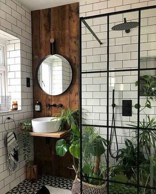 58 Charming Industrial Bathroom Interior Ideas