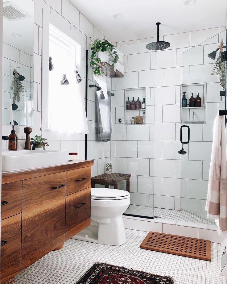 48 Simple Scandinavian Bathroom Interior Ideas
