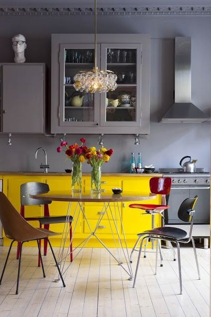44 Rare Kitchens With Yellow Accent